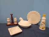 Milk Glass Group Salt/Pepper 3 5/8