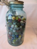 Awesome #5 Ball Perfect Mason Blue Glass Canning Jar Converted to Lamp