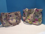 Group - Vera Bradley & Laura Ashley Stamped Floral Prints Hand Bags/Pocket Books