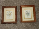 Pair - Still Life Floral Arrangements Lithographs Attributed to Artist Mary Lou Goertzen