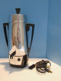 Retro Cory Royal Electric Automatic Percolator Model A20P Stainless Finish 20 Cups