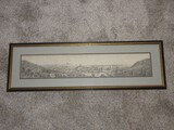 Rare Find Yard Long Engraving European Overview City Landscape Scene
