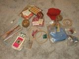 Group - Crochet Hooks, Needlepoint Hoops, Knitting Needles, Creative Crewel Stitchery, Etc.
