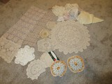 Group - Crocheted Doilies, Lace Doilies Various Sizes & Designs