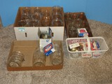 Group - Glass Canning Jars, Ball Regular Jar Seals, Bands, Etc.