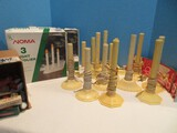 Vintage Group Christmas Single & 3 Light Candoliers, Bulbs, Candle-Loc