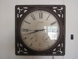 Atomic Radio Controlled Wall Mounted Clock, Humidity Temperature