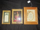 3 Wall Décor 'Love, 'Isaiah 49:15B & 16' Quote,  Faux Wheat/Floral