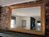Large Wall Mounted Mirror w/ Gilded Wooden Frame/Matt