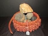Misc. Rocks in Basket Décor