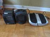 Lot - Homedcs Shiatsu Elite Foot Massager, Holmes Portable Heater, Red Stone Ceramic Heater