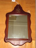 Old Pine Wall Mounted Mirror w/ Federal Eagle Medallion Top Wave Trim