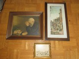 Lot - 'Grace' Picture Print in Wood Frame/Matt, Street Scene Picture Print
