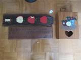 Lot - Wooden Apple Wall Décor 23 1/2