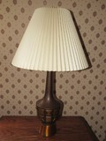 Metal Brushed Copper Design Lamp Square-Hourglass Pattern Design Ball Top
