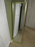 Tall Wall Mounted Mirror in Gilded Wooden Frame/Matt