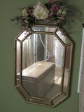 Gilded Bamboo Frame Wall Mounted Mirror