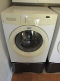 Frigidaire Affinity Washer Front Loading on Metal Storage Stand