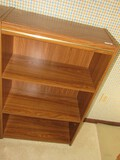 4-Tier Wooden Shelving Organizers w/ Metal Band, Panel Back