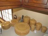 Sarento For Signature © 2001 Brown Ceramic Dinnerware Lot