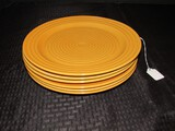 6 Large Ribbed Design Home Trends Plates 10 3/4