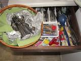 Huge Kitchenware Lot - Stainless Steel Japan Knives, Forks, Spoons, Clips, Etc.