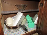 Cabinet Lot - Large Glass Bowl, Mixing Bowls, Tupperware, Etc.