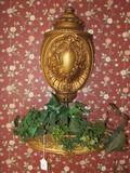 Ornate Gilded Design Scroll/Floral Oval Center Wall Décor, Scroll/Floral Planter Wall Mounted