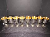 8 Sheridan E.P.S. Silverplate Goblets