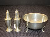 Pewter Weighted Lenox Salt/Pepper Shakers 5 1/4