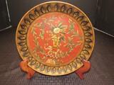 Elephant Ornate Ceramic Design Plate by Raymond Waites 10 1/4