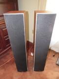 Pair - Tall Wooden Body Polk Audio Speakers Model Monitor 50