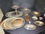 Silverplate Lot - International Silver Co. Oneida, W.M. Rogers, Etc.