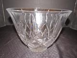 Large Lead Glass Fan/Diamond Cut Bowl