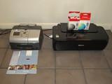 Printer Lot - Pixima iP1800 Printer w/ Cartridge, P315 Lexmark Mini Printer