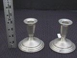 reed & Barton Pewter P-214 Candle Holders