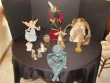 Angel Lot - X-Mas Tree Topper, Metal Décor, Ceramic Angel, Sitting Cherub, Etc.