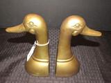 Pair - Brass Duck Head Bookends