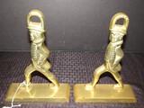 CW/VM Stamped Brass Walking Gentleman Bookends