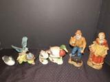Lot - Old Man/Woman MWA Ceramic Figurines 9 1/2