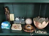Misc. Lot - Rayon 2006 Bowl w/ Scroll/Religious Motif, Clock, Napco Wall Décor, Etc.