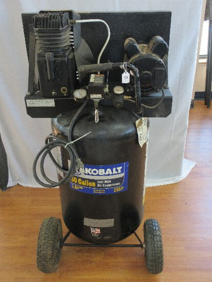 Kobalt 30 Gallon Cast Iron Air Compressor Mobile Tank