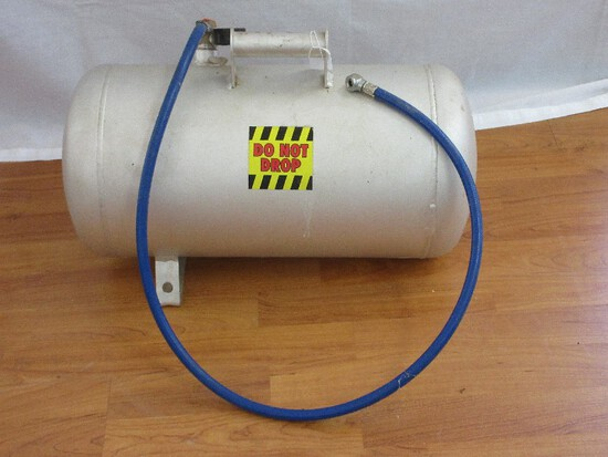 Silver Metal Portable 150PSI Air Tank w/ Hose & Nozzle