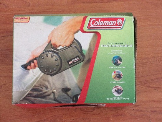 Coleman Quick Pump Rechargeable w/ Adapter & 2 Valves