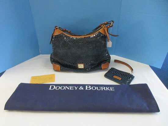 Dooney & Bourke Snake Skin Print Hobo Satchel Shoulder Handbag