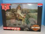 Hasbro G.I. Joe U.S. Army Motorcycle M.P. Action Figure Doll
