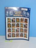 Classic Movie Monsters United States Postal Service © USPS 1996 20 Stamp Full Sheet