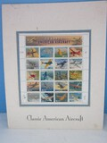 Classic American Aircraft Collectors 20 Full Sheet Stamp .32 Cent © USPS 1966