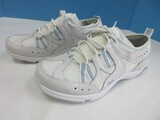 Ryka White Footwear Tennis Shoes Lace Up Gray Blue Trim