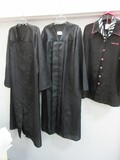 Group - Mary Kay Black Beauty Consultant Smock Jacket Size M, Pink Embroidery Cap